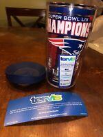 NEW ENGLAND PATRIOTS NFL SUPER BOWL LIII CHAMPIONS 16 Oz Tumbler Travel Mug Cup
