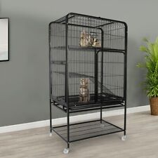 Large Space Ferret Pet Cat Small Chinchilla Pig Animal Rabbit Cage with Wheels