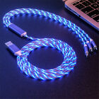 LED Light Up For iPhone 12 11 XR USB Fast Charger Cable Cord Micro Type-C 3 in 1