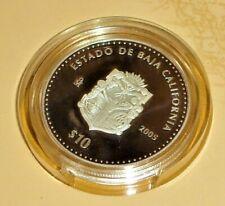 10 Peso Baja California Proof Silver 1 OZ .999 Commemorative Issue Very Rare