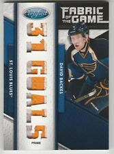 2011-12 Certified Fabric Of The Game David Backes Jersey 1/5 (Prime)