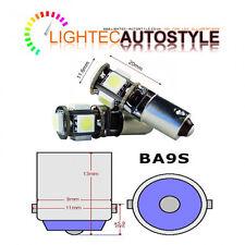 2x CANBUS 5 SMD LED 233 BA9S T4W BAYONET CAP HID XENON WHITE INTERIOR LIGHT BULB