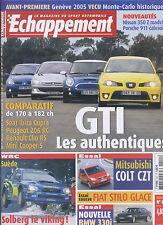 ECHAPPEMENT n°451 03/2005 206 RC, Clio RS, Ibiza Cupra, Cooper S, 350Z, 911
