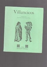Villancicos. Collection Voix. Editions François Maspéro