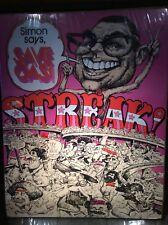 """Vintage 1970s Pop Art Poster  """"Save Gas! Streak""""~ Streaking Fad ~ J. Zap"""