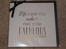 """""""la vida es lo que usted hace, hacer la suya Fabulous"""" en blanco tarjeta sellada"""
