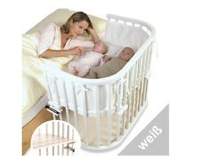 BABYBAY Beistellbett Babybett Maxi-Extra Groß Extrabelüftet Mitwachsend Weiß NEU