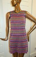 Missoni sz 6 Multi Stripe Sleeveless Dress Italy