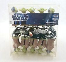 Star Wars Yoda Figure Holiday Light Set String Strand of 10 Kurt Adler 2002 NEW