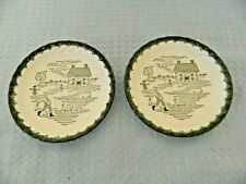 Royal China U.S.A. Countryside Pair of Saucers