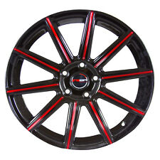 4 MOD 18 inch Black Red Mill Rims fits FORD ESCAPE 2013 - 2018