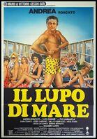 IL LUPO DI MARE Manifesto Film 2F Poster Originale Cinema GIGI E ANDREA RONCATO