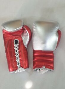 new customized leather boxing gloves with any custom name or logo or winning log