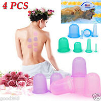New Silicone Massage Vacuum Body and Facial Cups Set Anti Cellulite Cupping Cup