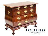 20TH C BAKER MAHOGANY BOMBE / KETTLE DRESSER / CHEST ~ ANTIQUE CHIPPENDALE STYLE