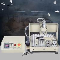 4Axis 3040 CNC Router Engraver 3D Engraving Milling Drilling Machine 800W VFD HQ