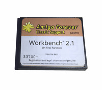 New Workbench System 2.1 on 4GB CF Card for Amiga 500 600 1200 Hard Drive #623