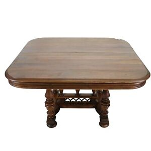 Antique Table, Dining, French, Walnut Henri II Style Table, Handsome Piece!