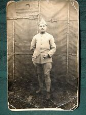 WW I French Artillery Soldier - antique RPPC