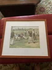 Golf print Antique By A. B. Frost Chromolithograph  Saturday Afternoon