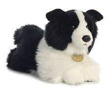 AURORA MIYONI Stuffed Plush Toy BORDER COLLIE Animal PUPPY SHEEPDOG Black White