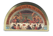 THE LAST SUPPER JESUS AND HIS DISCIPLES GOLD FOIL WOODEN PLAQUE RELIGIOUS GIFT