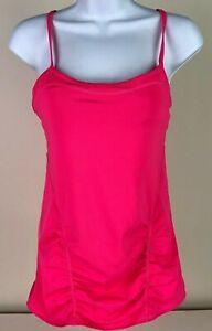 Zella Women's Size S/P Small Petite Pink Bathing Suit Top