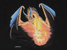 DRAGON T-Shirt Ray van Tilburg Comic con Med winged Black Fire Breathing