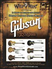 Gibson Custom 1956 Goldtop 1957 Black Beauty Les Paul Guitar Wild West 8 x 11 ad