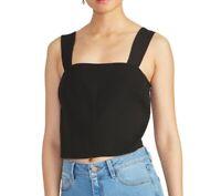 Rachel Rachel Roy Womens Crop Blouse Black Medium M Reva Square-Neck $79 419