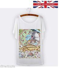 My Neighbour Totoro Cat Bus Print T-Shirt - Size UK 8 - Kawaii Harajuku