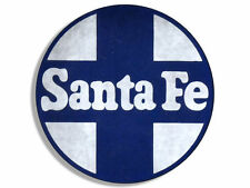 "4"" vintage santa fe railroad logo sticker decal"