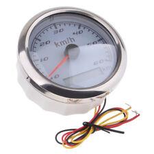 Marine Digital GPS Speedometer Gauge 0-60 km/h 85mm 316L Chrome