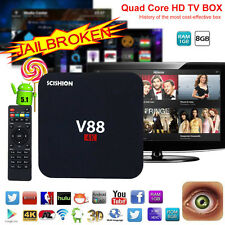 V88 Smart Android 5.1 TV Box RK3229 UHD 4K Quad Core 8GB WiFi H.265 Mini PC E3S