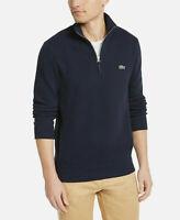 Lacoste Quarter-Zip Sweatshirt Men's Size 4XL / 9 Navy Blue Cotton Sweater NWT