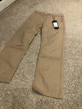 TOMMY HILFIGER boys Chino Trousers Size 7-8 Years beige BNWT designer clothes