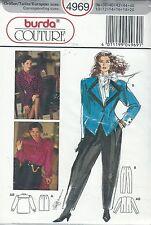 burda 4969 Jacket, Blouse, Skirt, Pants 10, 12, 14, 16, 18, 20    Sewing Pattern