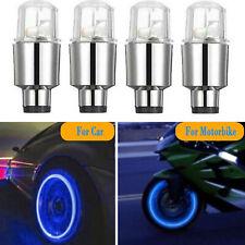 4PCS LED Wheel Tyre Tire Valve Caps Neon Light Bulb for Bike Car Motorcycle Lamp