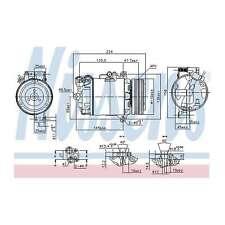 Fits BMW X3 E83 2.0d Genuine OE Quality Nissens A/C Air Con Compressor