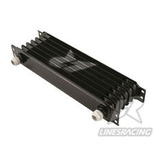 LINESRACING black AN10 oil cooler for Janpan car/ 10AN 7 Row engine oil cooler