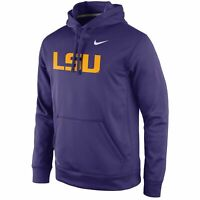 Men's Nike Louisiana State University Performance Practice PO Hoody Purple