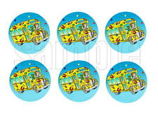 Magic School Bus Edible Party Image Cupcake Topper Frosting Icing Sheet Circles