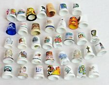 Sewing Thimbles Collection of 37 from Alalska to Carribean & Europe Look at List