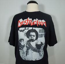 DESTRUCTION Child w/Bullet Belt Band Logo Official Print T-Shirt Men's size L
