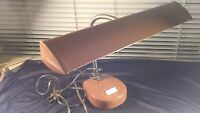 Vintage Brown Desk & Table Lamp Art Deco 1940's