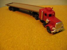 """Ho 1/87 Peterbilt ? / 3 Axle Tractor And Flat Bed Trailer """"Read Details"""