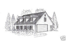 42 x 32 Oversized 3 - 4 stall Garage with Dormered Loft Building Blueprint Plans