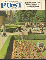 JUNE 5 1954 SATURDAY EVENING POST magazine cover print - CITY PARK
