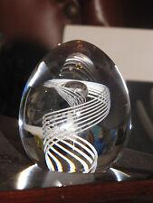 """STEUBEN """"Spiral"""" Glass Paperweight 3.5""""x3.5""""x3.5"""""""