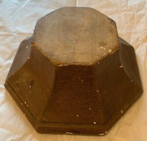 Antique Vintage  Wooden Display Stand 8 Sided